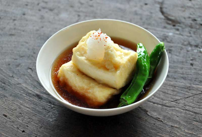 揚げ出し豆腐の写真