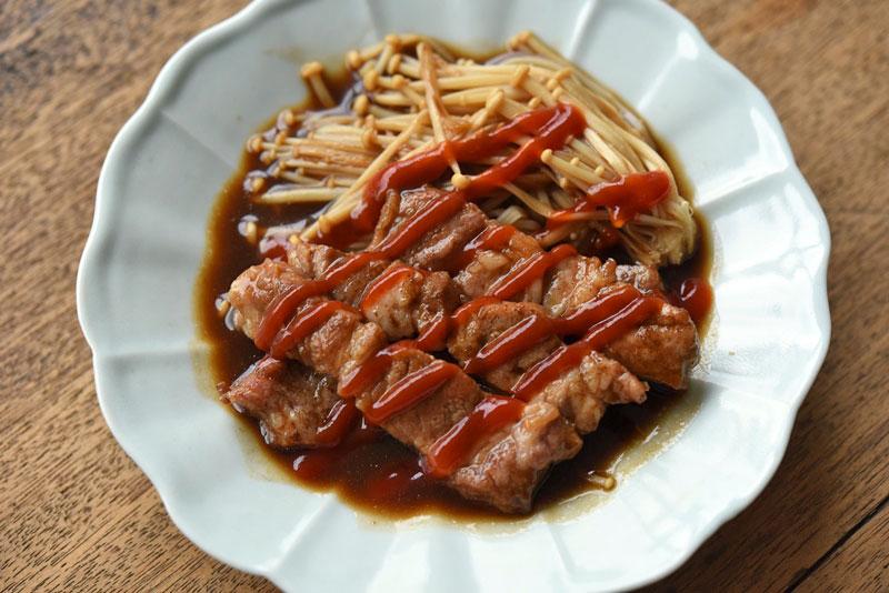 豚肉のソース炒めの写真
