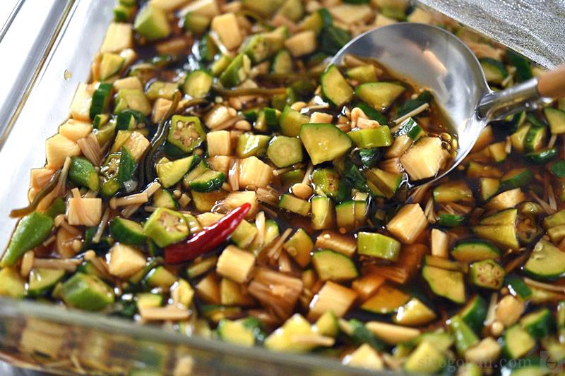 夏野菜漬けの写真