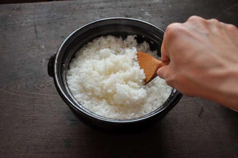 土鍋ご飯の炊き方の写真