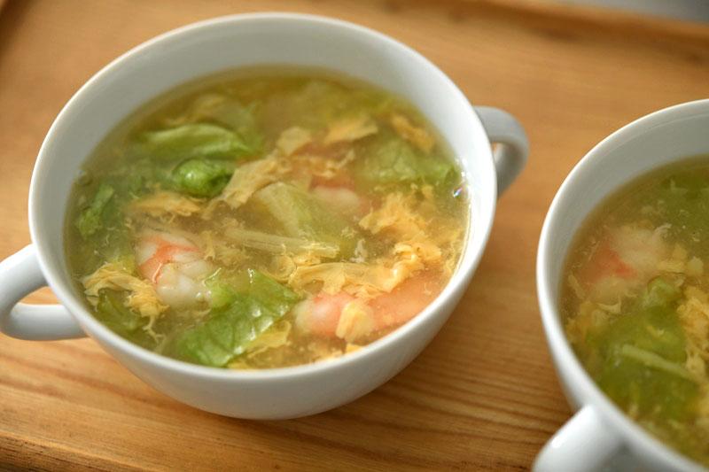 えびの生姜かきたまスープの写真