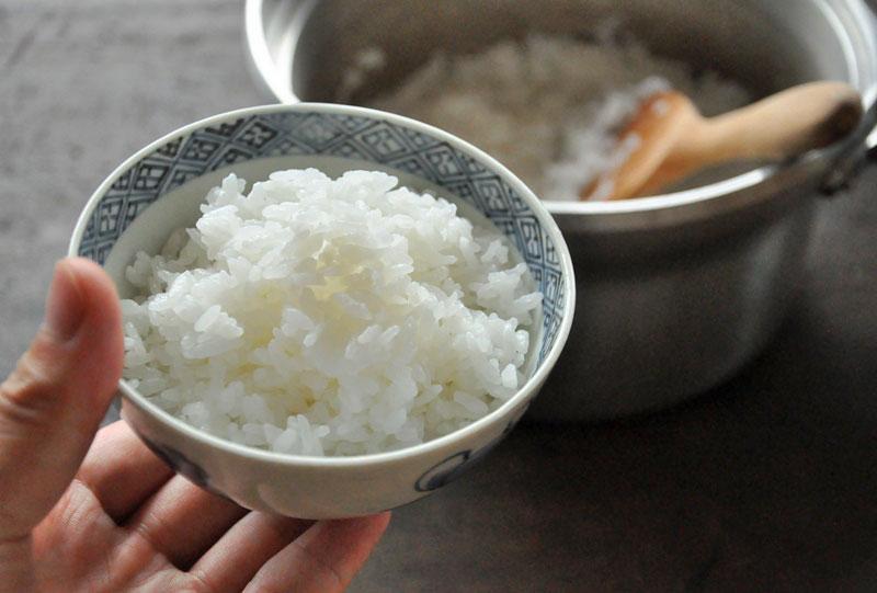 鍋炊きご飯の炊き方の写真