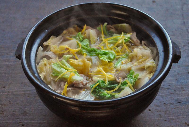 白菜と豚バラのスープ煮の写真