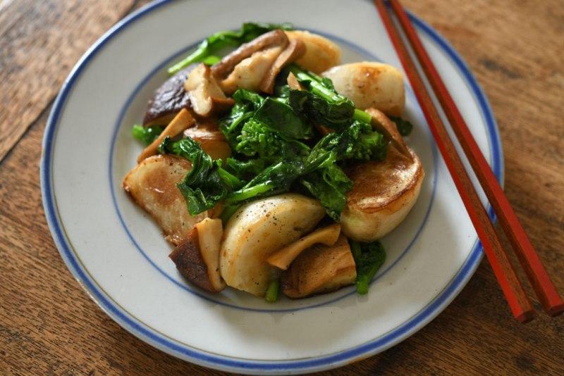 かぶと椎茸の炒め物の写真