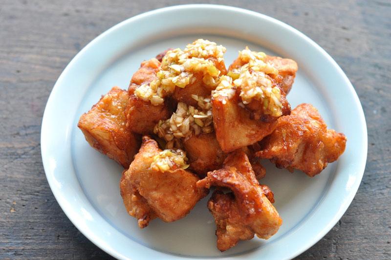 鶏むね肉の唐揚げ&ねぎソースの写真
