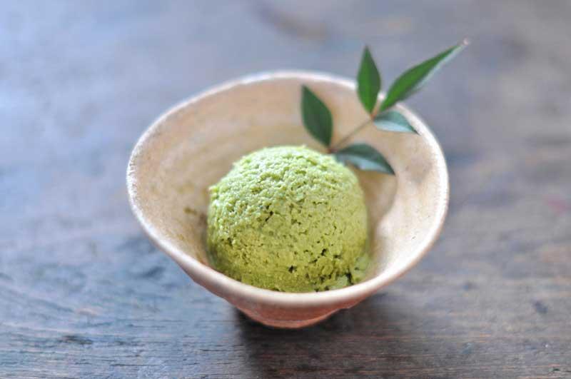 抹茶アイスクリームの写真
