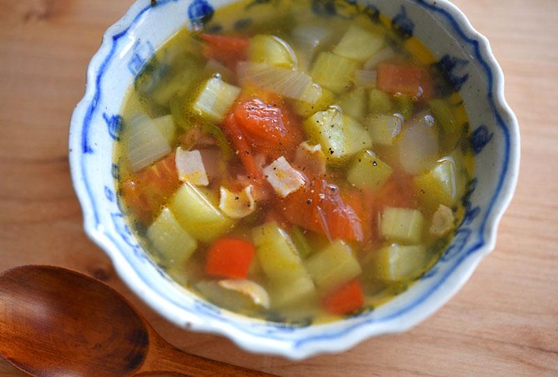 夏野菜ミネストローネの写真