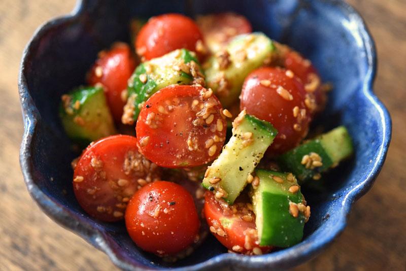 サラダ 人気 トマト レシピ