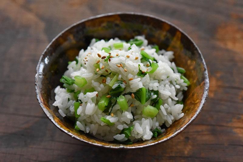 菜めし(菜飯)の写真