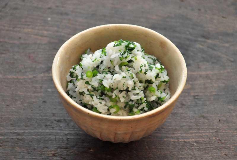 春菊の菜飯の写真