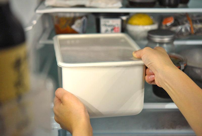 ぬか床の冷蔵保管の写真