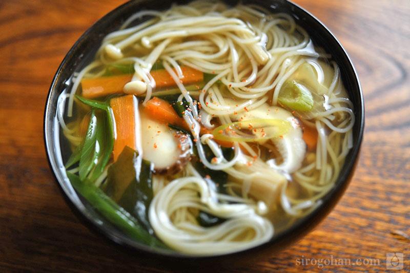 野菜にゅうめんのレシピ 作り方 白ごはん Com