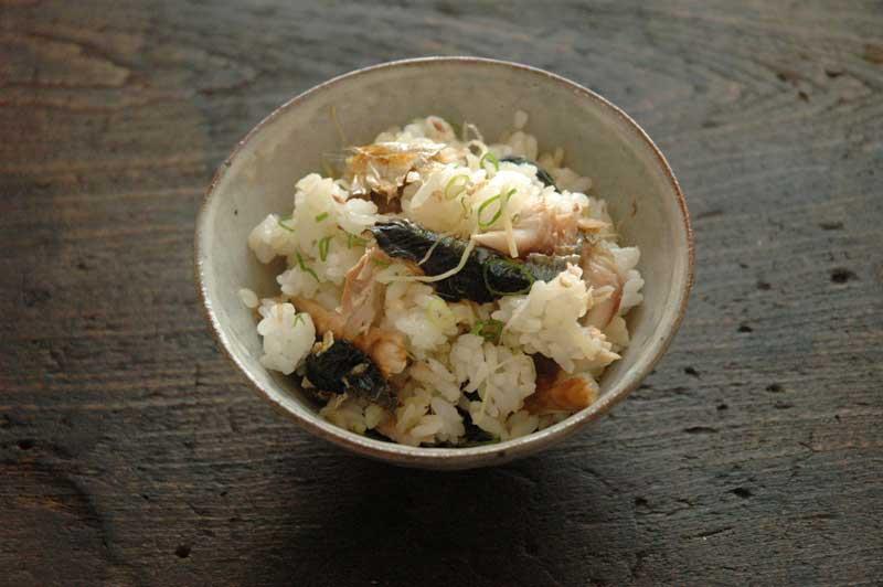 さんまと薬味野菜の混ぜご飯