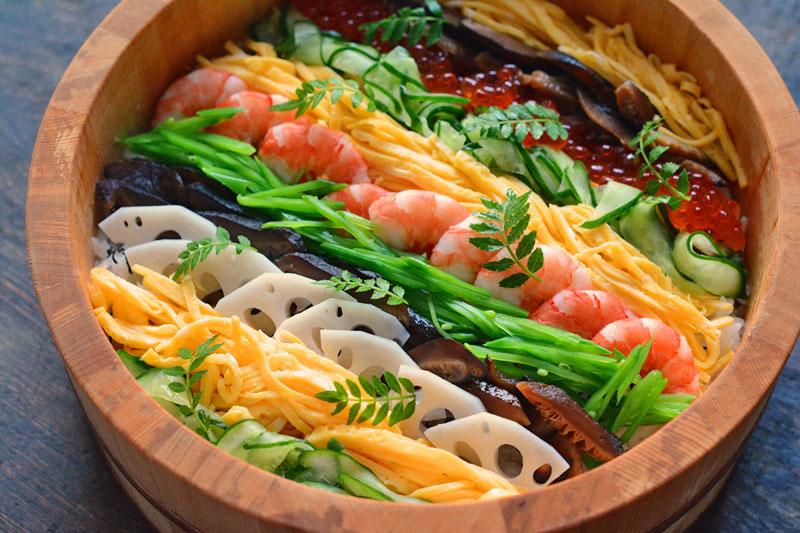 ちらし寿司の盛り付けのコツの写真