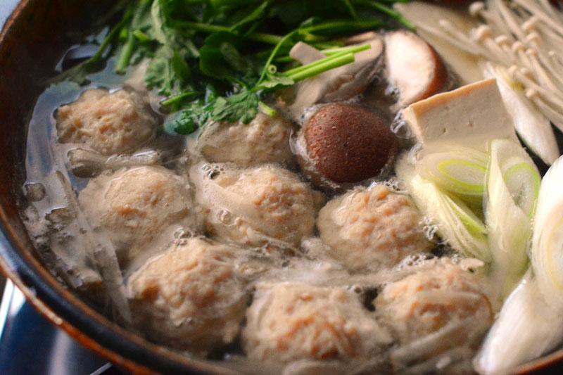 鶏団子鍋の作り方の写真