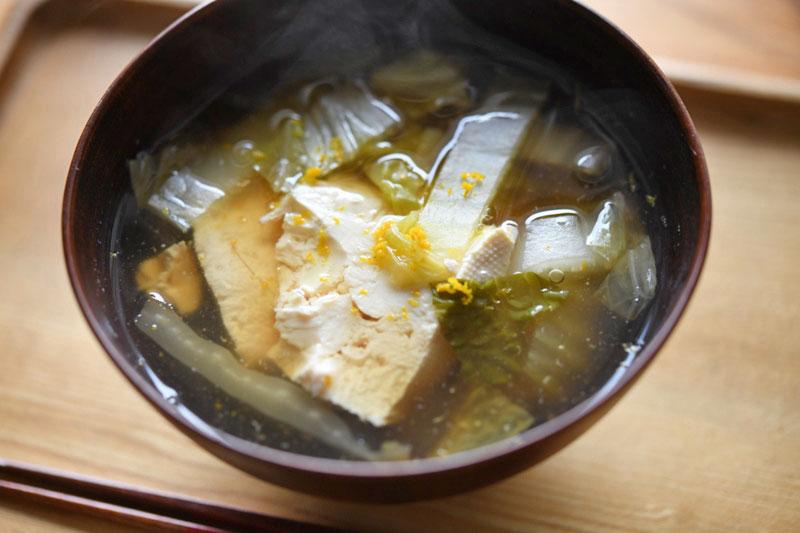 豆腐と白菜のとろみ汁の写真