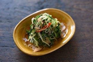 水菜と油揚げの煮びたしのレシピ/作り方:白ごはん.com