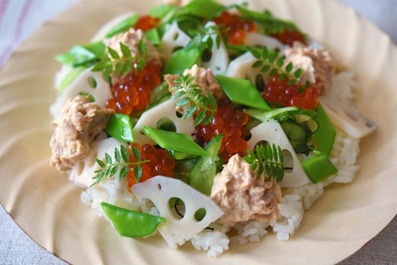 ツナマヨちらし寿司の写真