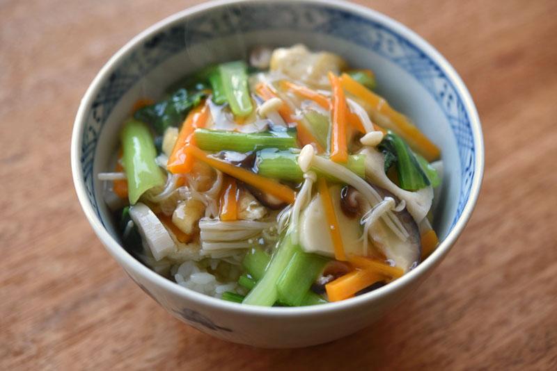 野菜あんかけ丼の写真
