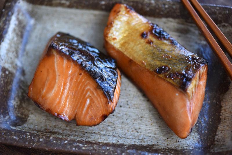 鮭の漬け焼きの写真